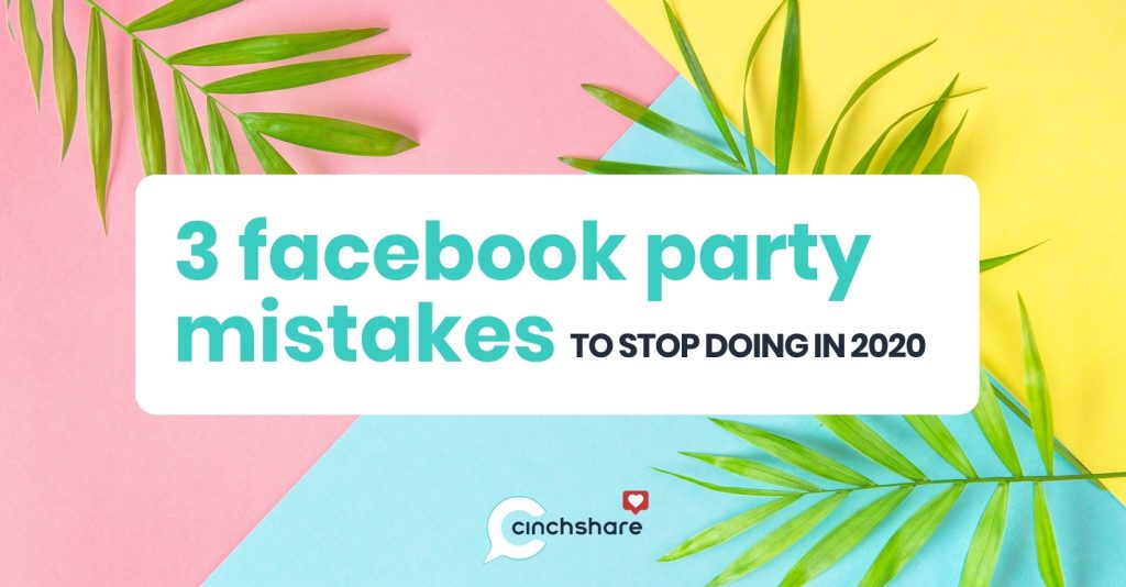 Facebook Party Mistakes