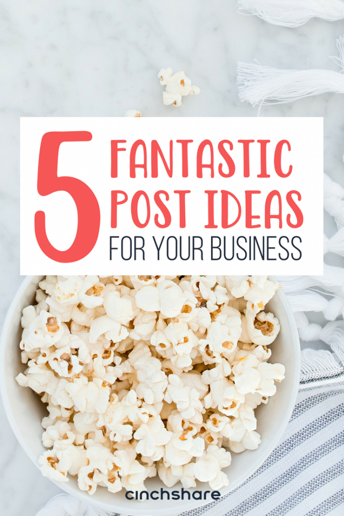 Five fantastic non-spammy post ideas you should be using for