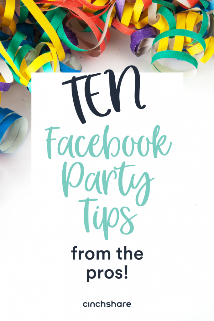 Facebook party tips from Direct Sales Pros