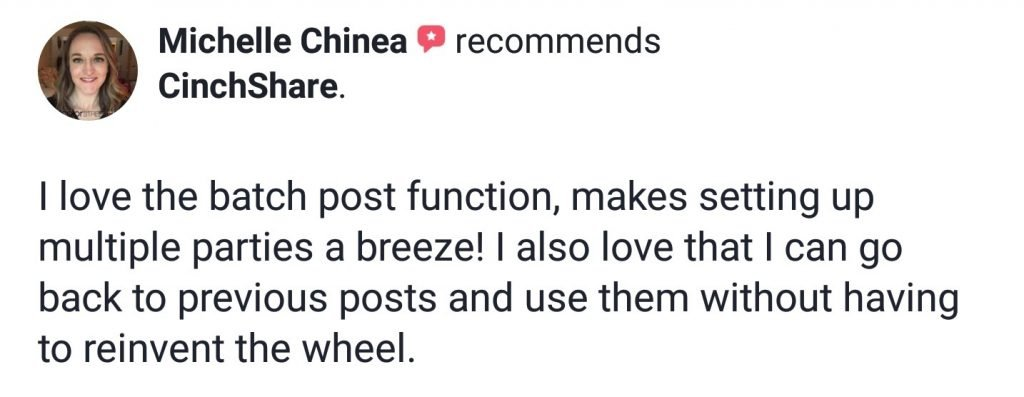 Michelle Chinea Colorstreet Loves CinchShare