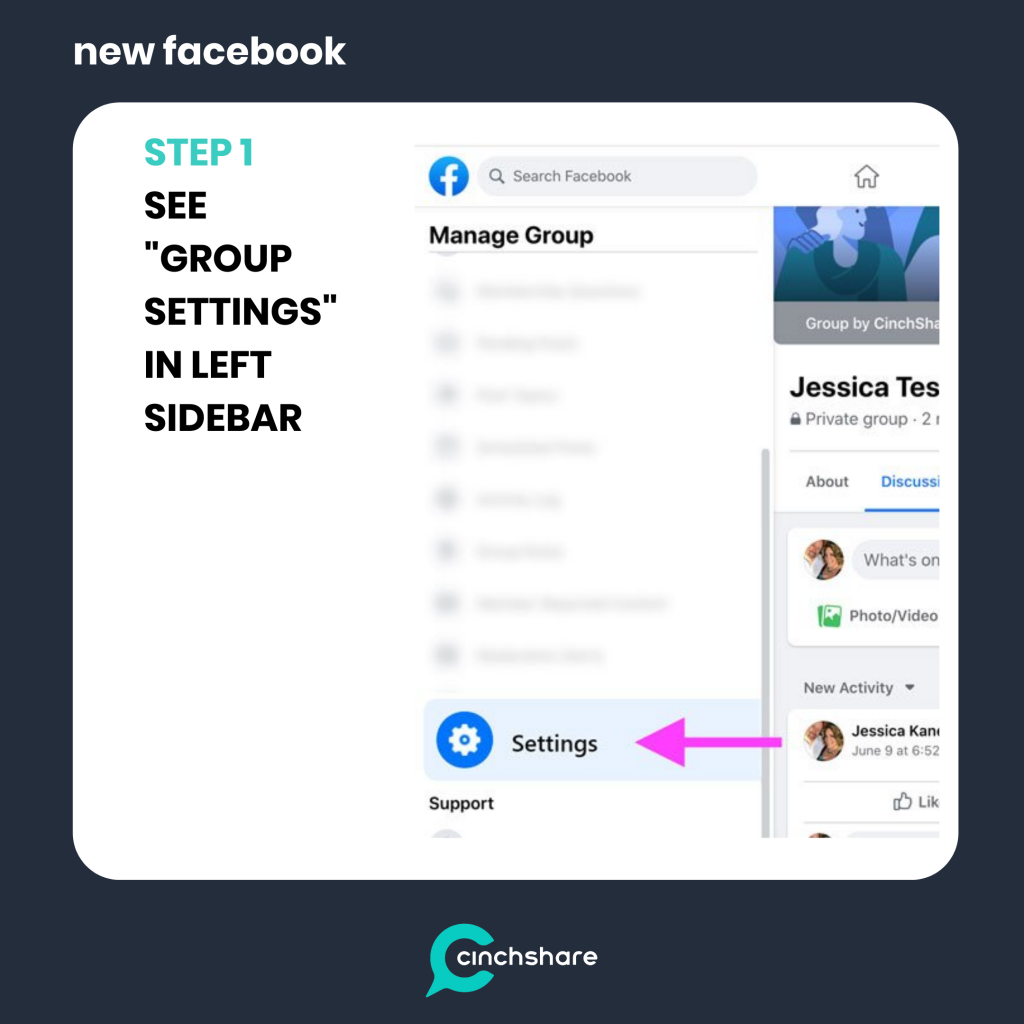 connect cinchshare to new facebook