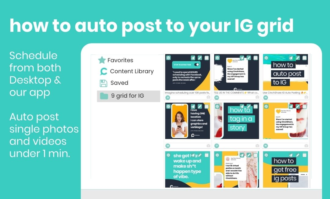 How to auto post to Instagram with CinchShare